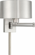 Livex 40034-91 Brushed Nickel Swing Arm Wall Lamp