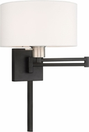 Livex 40036-04 Black Swing Arm Wall Lamp
