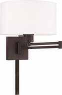 Livex 40036-07 Bronze Wall Swing Arm Lamp