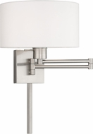 Livex 40036-91 Brushed Nickel Swing Arm Wall Lamp