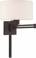 Livex 40037-07 Bronze Wall Swing Arm Lamp