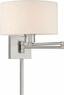Livex 40037-91 Brushed Nickel Swing Arm Wall Lamp