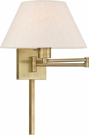 Livex 40038-01 Antique Brass Wall Swing Arm Lamp