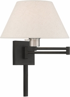 Livex 40038-04 Black Swing Arm Wall Lamp