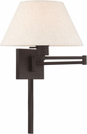 Livex 40038-07 Bronze Wall Swing Arm Lamp