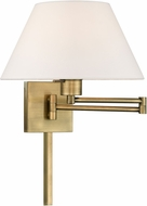 Livex 40039-01 Antique Brass Wall Swing Arm Lamp