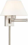 Livex 40039-91 Brushed Nickel Swing Arm Wall Lamp