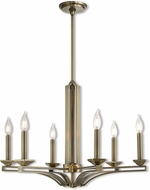 Livex 40056-01 Trumbull Contemporary Antique Brass Chandelier Lighting