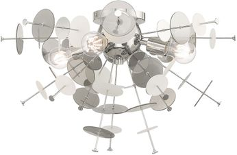 Livex 40070-05 Circulo Contemporary Polished Chrome Flush Mount Light Fixture