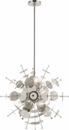 Livex 40074-05 Circulo Contemporary Polished Chrome 24  Hanging Light