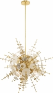 Livex 40076-12 Circulo Modern Satin Brass 30  Hanging Pendant Lighting