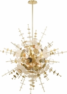 Livex 40079-12 Circulo Modern Satin Brass 50  Pendant Hanging Light