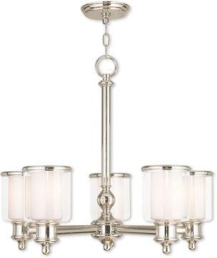 Livex 40205-35 Middlebush Contemporary Polished Nickel Chandelier Light