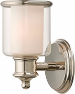 Livex 40211-35 Middlebush Polished Nickel Wall Sconce