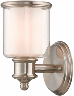 Livex 40211-91 Middlebush Brushed Nickel Wall Lamp