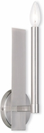 Livex 40241-91 Alpine Contemporary Brushed Nickel Wall Sconce