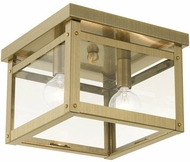 Livex 4031-01 Milford Antique Brass 8  Ceiling Light Fixture