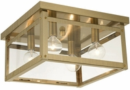 Livex 4032-01 Milford Antique Brass 11  Flush Lighting