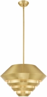 Livex 40402-12 Amsterdam Contemporary Satin Brass Drop Ceiling Light Fixture