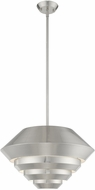Livex 40402-91 Amsterdam Modern Brushed Nickel Drop Lighting Fixture