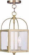 Livex 4041-01 Milford Antique Brass Entryway Light Fixture