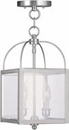 Livex 4041-91 Milford Brushed Nickel Foyer Lighting Fixture