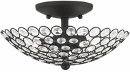Livex 40441-04 Cassandra Black 11  Flush Mount Lighting