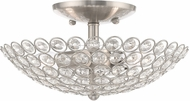 Livex 40441-91 Cassandra Brushed Nickel 11  Flush Mount Ceiling Light Fixture