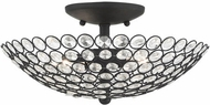 Livex 40443-04 Cassandra Black 13  Overhead Lighting