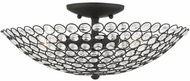 Livex 40446-04 Cassandra Black 16  Flush Mount Light Fixture