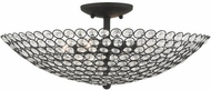 Livex 40447-04 Cassandra Black 20  Flush Mount Lighting Fixture