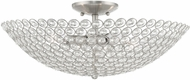 Livex 40447-91 Cassandra Brushed Nickel 20  Overhead Lighting Fixture