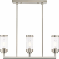 Livex 40473-91 Hillcrest Contemporary Brushed Nickel Island Lighting