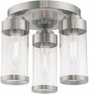 Livex 40474-91 Hillcrest Modern Brushed Nickel Ceiling Lighting