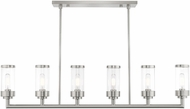 Livex 40476-91 Hillcrest Modern Brushed Nickel Kitchen Island Lighting