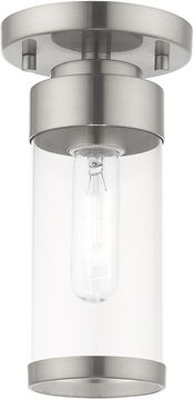 Livex 40480-91 Hillcrest Modern Brushed Nickel Ceiling Light Fixture