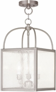 Livex 4055-91 Milford Brushed Nickel Foyer Lighting Fixture