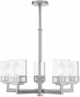 Livex 40595-05 Harding Contemporary Polished Chrome 25  Hanging Chandelier