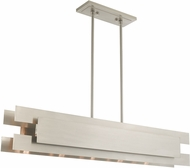 Livex 40695-91 Varick Modern Brushed Nickel 46  Island Lighting