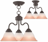 Livex 40723-07 Wynnewood Bronze Mini Chandelier Light / Ceiling Lighting
