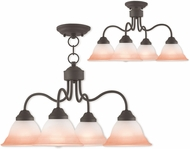 Livex 40724-07 Wynnewood Bronze Chandelier Lighting / Ceiling Light
