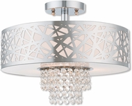 Livex 40763-05 Allendale Polished Chrome 15  Home Ceiling Lighting