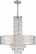 Livex 40767-05 Allendale Polished Chrome 22  Drum Ceiling Light Pendant