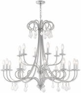 Livex 40870-05 Daphne Polished Chrome 42  Lighting Chandelier