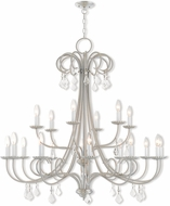 Livex 40870-91 Daphne Brushed Nickel 42  Chandelier Lamp
