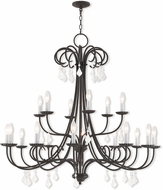 Livex 40870-92 Daphne English Bronze 42  Chandelier Light