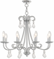 Livex 40878-05 Daphne Polished Chrome Ceiling Chandelier