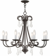 Livex 40878-92 Daphne English Bronze Chandelier Light