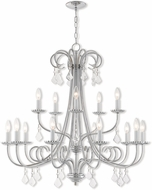 Livex 40879-05 Daphne Polished Chrome 36  Chandelier Lighting