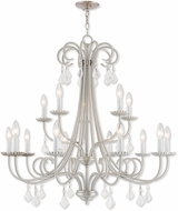Livex 40879-91 Daphne Brushed Nickel 36  Lighting Chandelier